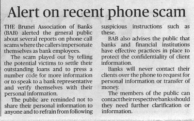 Alert on recent phone scam