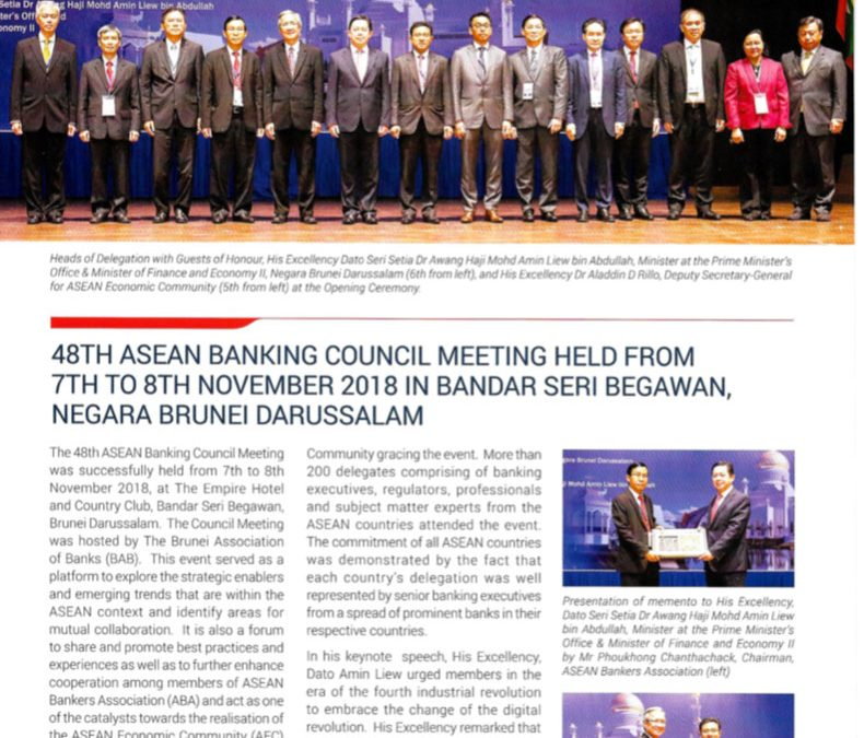 Asean Banker Newsletter Dec 2018 / Jan 2019