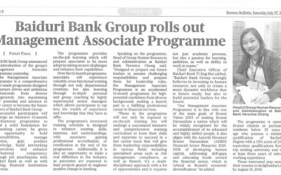 Clipping July 27 Baiduri Bank Group rolls out Management Associate Programme