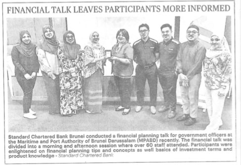 Clipping July 31 Financial talks leaves participants more informed