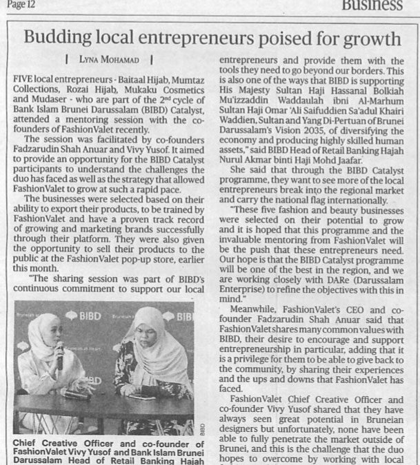 Clipping May 29 Budding Local Entrepreneurs poised for growth
