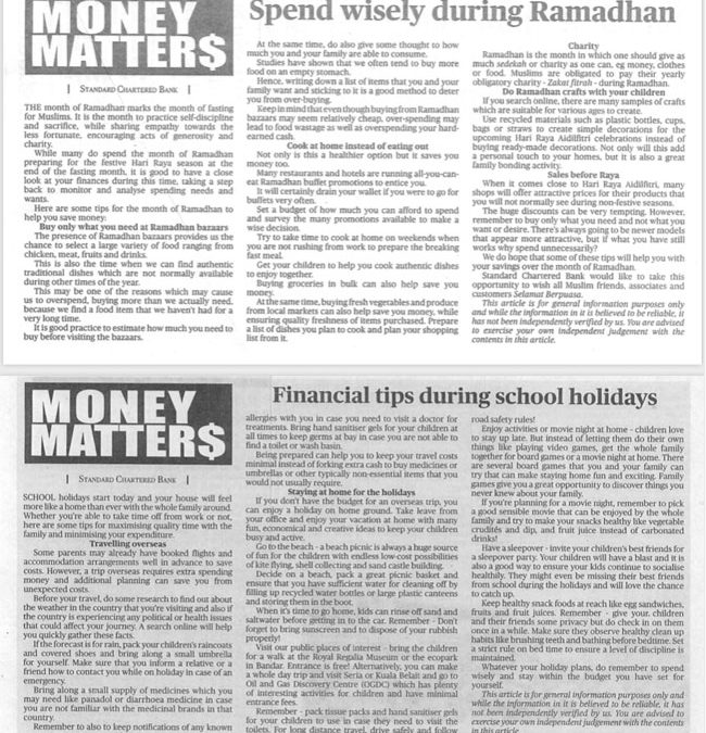 Money Matters May to July 2019