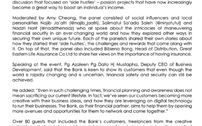 """BAIDURI BANK HOSTS PANEL TALK TITLED: """"FINANCIAL SECURITY IN THE NEW NORMAL"""""""