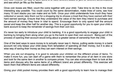 SCB – 28 Jan Teaching your child money sense