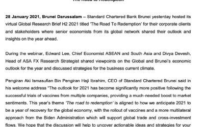SCB – 28 Jan 2021- Standard Chartered held Global Research Briefing H1 2021