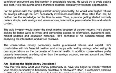 SCB 29 April 2021 Whats your money personality