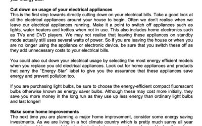 SCB – 25 March 2021 – Save energy, save money