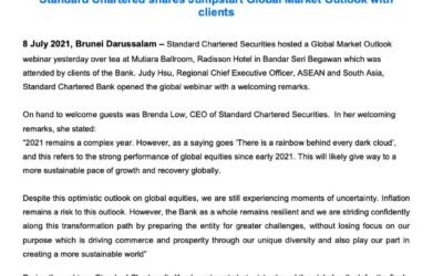 SCB Standard Chartered invites clients to Global Market Outlook
