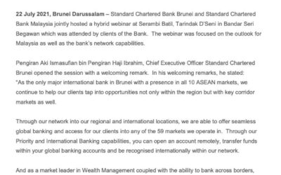 SCB 22072021 Standard Chartered forging relationship across borders for Brunei-Malaysia