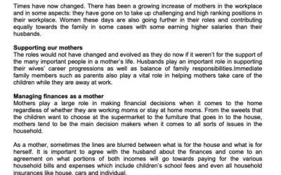 MONEY MATTER$ – FINANCES FOR MOTHERS – SCB