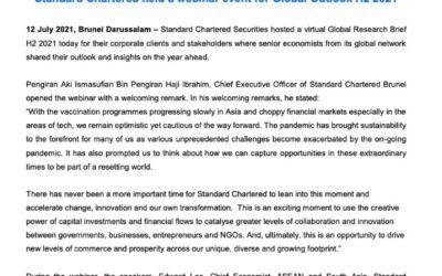 SCB Standard Chartered held a webinar event for Global Outlook H2 2021